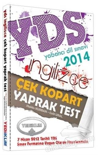 YDS İNGİLİZCE ÇEK KOPAR YAPRAK TEST 2014 (  )
