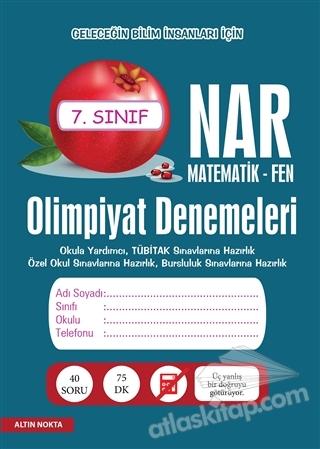 NAR OLİMPİYAT DENEMELERİ 7. SINIF MATEMATİK - FEN (  )