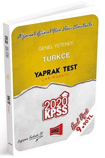 YARGI YAYINLARI 2020 KPSS GENEL YETENEK TÜRKÇE ÇEK KOPARTLI YAPRAK TEST ( YARGI YAYINLARI 2020 KPSS GENEL YETENEK TÜRKÇE ÇEK KOPARTLI YAPRAK TEST )