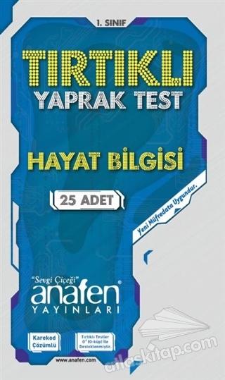 1. SINIF HAYAT BİLGİSİ TIRTIKLI YAPRAK TEST ( (25 ADET) )