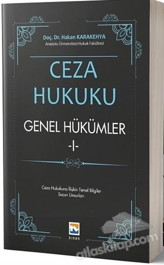CEZA HUKUKU - GENEL HÜKÜMLER 1 (  )