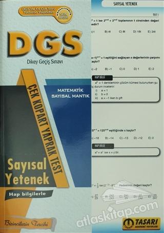 2019 DGS SAYISAL YETENEK ÇEK KOPART YAPRAK TEST (  )