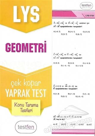2018 LYS GEOMETRİ KONU TARAMA YAPRAK TESTLERİ (  )