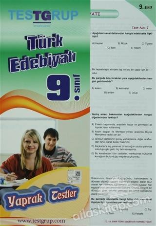 TEST GRUP 9. SINIF TÜRK EDEBİYATI YAPRAK TESTLER (  )