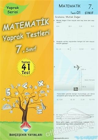 MATEMATİK  YAPRAK TESTLERİ 7. SINIF ( YAPRAK SERİSİ )