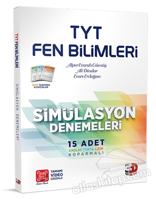 TYT FEN BİLİMLERİ SİMÜLASYON DENEMELERİ 15'Lİ (  )
