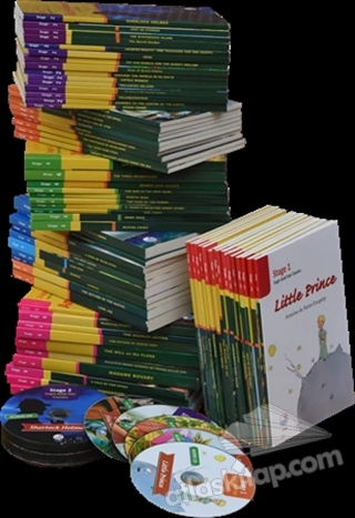 İNGİLİZCE STAGE OKUMA KİTAPLARI SETİ CD'Lİ (80 KİTAP TAKIM) (  )