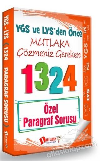 YGS VE LYS'DEN ÖNCE MUTLAKA ÇÖZMENİZ GEREKEN 1324 ÖZEL PARAGRAF SORUSU (  )