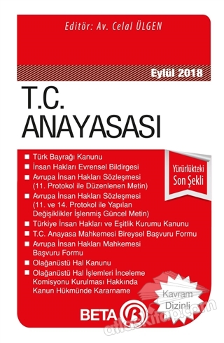 T.C. ANAYASASI (EYLÜL 2018) (  )
