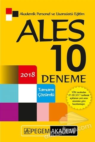 2018 ALES TAMAMI ÇÖZÜMLÜ 10 DENEME (  )