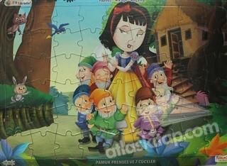 Pamuk Prenses Ve 7 Cuceler Ucu Bir Arada Yapbo Kitap 25