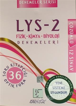 LYS 2 FİZİK - KİMYA - BİYOLOJİ DENEMELERİ ( ÇÖZÜMLÜ 12 SINAV )