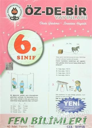 6. SINIF FEN BİLİMLERİ YAPRAK TEST (  )