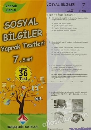 SOSYAL BİLGİLER YAPRAK TESTLERİ 7. SINIF ( YAPRAK SERİSİ 36 TEST )