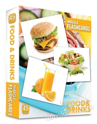 MİRACLE FLASHCARDS - FOOD AND DRİNK-BOx 45 CARDS (  )