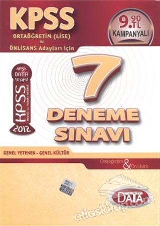 KPSS ORTAÖĞRETİM (LİSE) VE ÖNLİSANS 7 DENEME SINAVI (  )