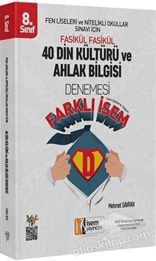 2019 LGS FARKLI İSEM 8. SINIF DİN KÜLTÜRÜ VE AHLAK BİLGİSİ 40 DENEME (  )