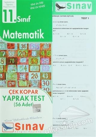 11. SINIF MATEMATİK ÇEK KOPAR YAPRAK TEST (56 ADET) (  )