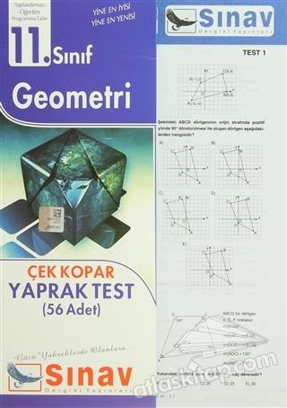 11. SINIF GEOMETRİ ÇEK KOPAR YAPRAK TEST (56 ADET) (  )