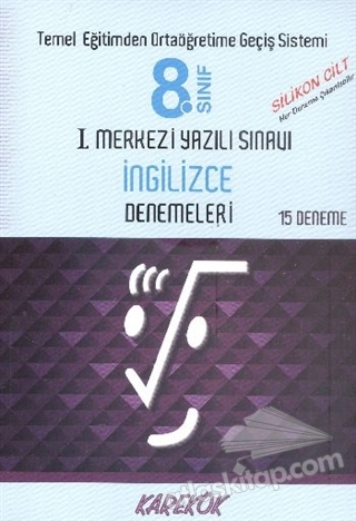 8.SINIF I.MERKEZİ YAZILI SINAVI - İNGİLİZCE DENEMELERİ ( 15 DENEME )