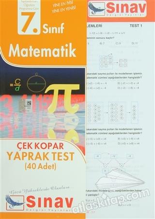 7. SINIF MATEMATİK ÇEK KOPAR YAPRAK TEST (40 ADET) (  )