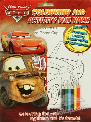 DİSNEY PİxAR CARS : COLOURİNG AND ACTİVİTY FUN PACK ( INCLUDİNG: 30 STİCKERS - 6 PENCİLS - 1 GİANT PUZZLE - 12 COLORİNG PAGES )