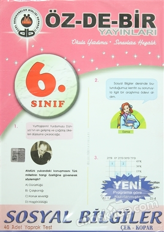 6. SINIF SOSYAL BİLGİLER YAPRAK TEST (  )