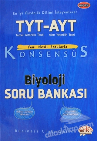 TYT AYT KONSENSÜS BİYOLOJİ SORU BANKASI (  )