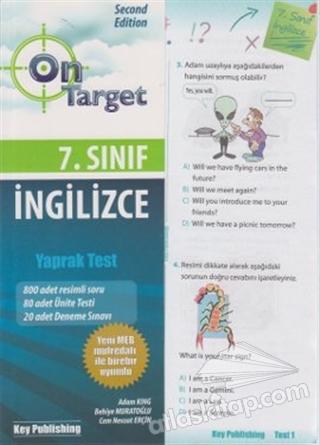 ON TARGET 7. SINIF İNGİLİZCE YAPRAK TEST (  )