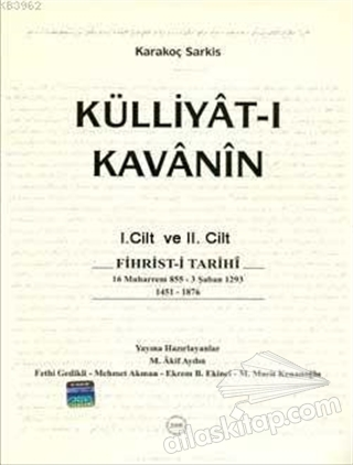 KÜLLİYET-İ KAVANİ'NİN 2 CİLT (  )
