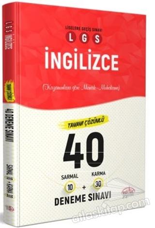 LGS İNGİLİZCE TAMAMI ÇÖZÜMLÜ 40 DENEME SINAVI (  )
