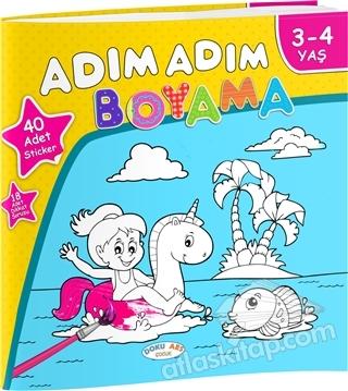 Adim Adim Boyama 3 4 Yas Kitap 27 Indirimle Satin Al Atlas Kitap