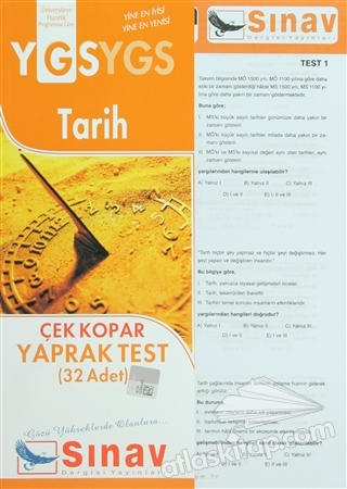 YGS TARİH ÇEK KOPAR YAPRAK TEST (32 TEST) (  )