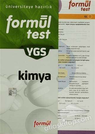 FORMÜL YGS KİMYA TEST ( ÜNİVERSİYETE HAZIRLIK )