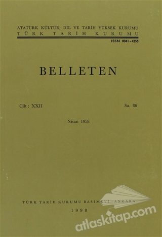 BELLETEN SAYI: 86 CİLT: 22 (  )