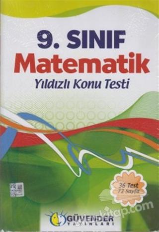 9. SINIF MATEMATİK YILDIZLI KONU TESTİ (  )