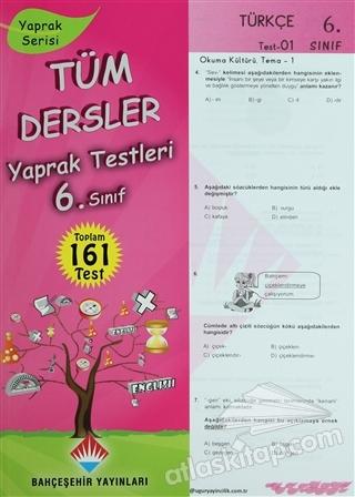 TÜM DERSLER YAPRAK TESTLERİ 6. SINIF (  )