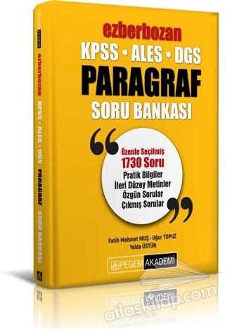 2020 KPSS ALES DGS EZBERBOZAN PARAGRAF SORU BANKASI (  )