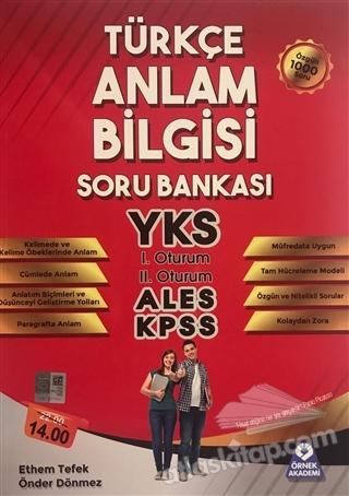 TÜRKÇE ANLAM BİLGİSİ SORU BANKASI (  )