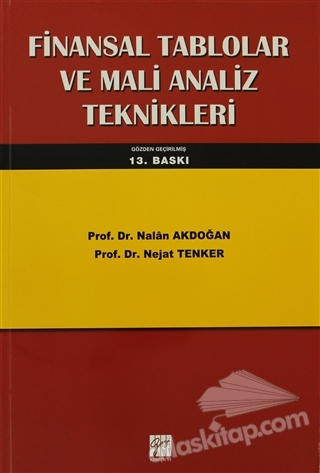 FİNANSAL TABLOLAR VE MALİ ANALİZ TEKNİKLERİ (  )
