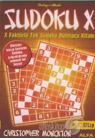 SUDOKU X 1. KİTAP X FAKTÖRLÜ TEK SUDOKU BULMACA KİTABI (  )
