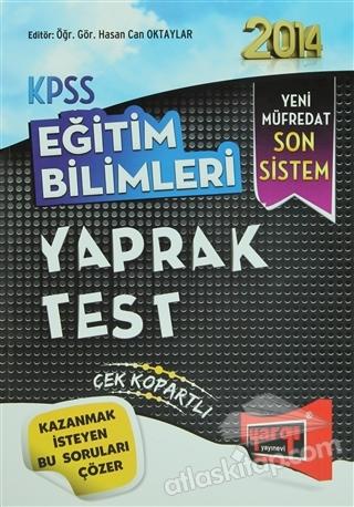 2014 KPSS EĞİTİM BİLİMLERİ YAPRAK TEST ( YENİ MÜFREDAT SON SİSTEM )