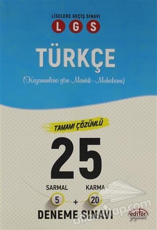 LGS TÜRKÇE TAMAMI ÇÖZÜMLÜ 25 DENEME SINAVI (  )