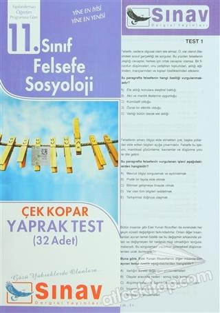 11. SINIF FELSEFE SOSYOLOJİ ÇEK KOPAR YAPRAK TEST (32 ADET) (  )
