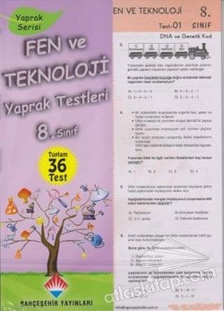 FEN VE TEKNOLOJİ YAPRAK TESTLERİ 8. SINIF (  )