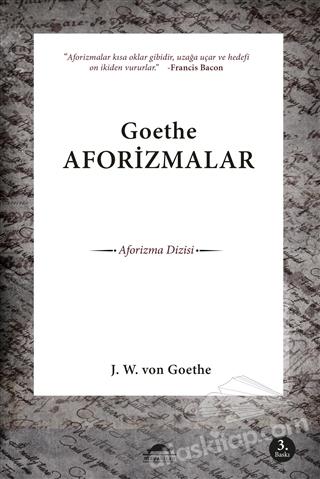 GOETHE AFORİZMALAR (  )