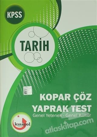 2018 KPSS TARİH KOPAR ÇÖZ YAPRAK TEST ( GENEL YETENEK GENEL KÜLTÜR )