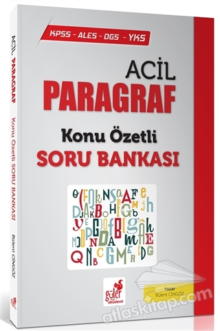 KPSS - ALES - DGS - YKS ACİL PARAGRAF KONU ÖZETLİ SORU BANKASI (  )