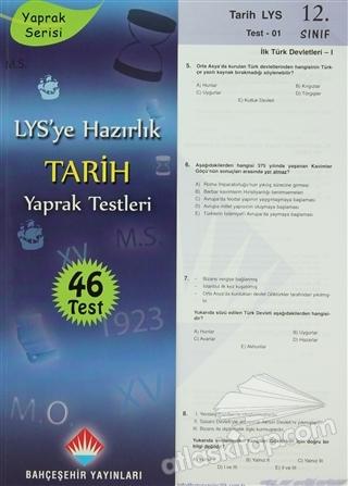 LYS'YE HAZIRLIK TARİH YAPRAK TESTLERİ 12. SINIF (  )