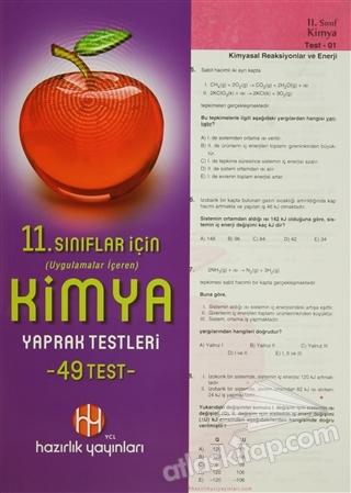 11. SINIFLAR İÇİN UYGULAMALAR İÇEREN KİMYA YAPRAK TESTLERİ (49 TEST) (  )